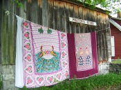 Display of chenille textiles at Prater's Mill
